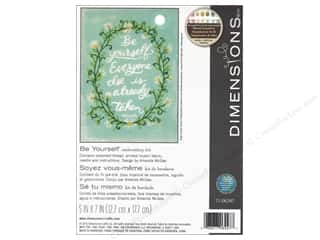 "yarn & needlework: Dimensions Embroidery Kit 5""x 7"" Be Yourself"
