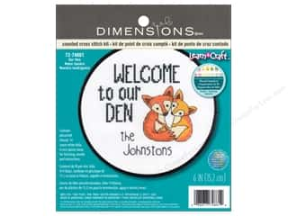 Clearance: Dimensions Counted Cross Stitch Kit 6 in. Our Den