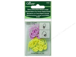 yarn & needlework: Clover Quick Locking Stitch Markers 12 pc. Large