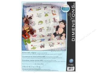 yarn & needlework: Dimensions Cross Stitch Kit Animal ABC Afghan