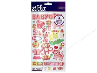 scrapbooking & paper crafts: EK Sticko Stickers Flip Pack Baby Girl