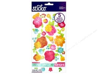 EK Sticko Stickers Flip Pack Watercolor Flower