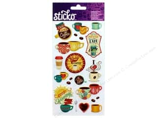 Sticko Dimensional Stickers - Coffee Lattes