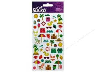 EK Sticko Stickers Mini Beach Travel Icons