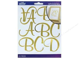 stickers: EK Sticko Stickers Alpha Script XL Gold Foil