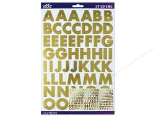 EK Sticko Stickers Alpha Futura Bold Large Gold Foil