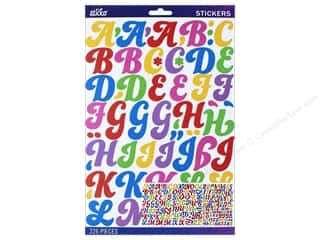 scrapbooking & paper crafts: Sticko Alphabet Stickers - FunkyDori Large Multi