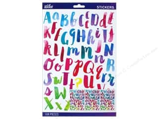 EK Sticko Stickers Alpha Watercolor Large Multi