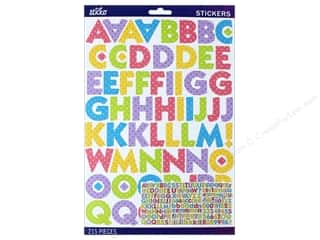 stickers: EK Sticko Stickers Alpha Kable Large Multi Pastel