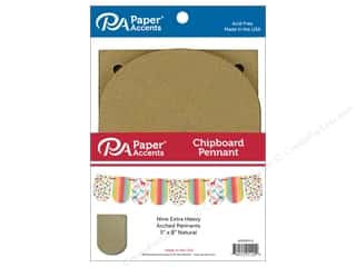 scrapbooking & paper crafts: Paper Accents Chipboard Pennants 5 x 9 in. Arched 9 pc. Natural