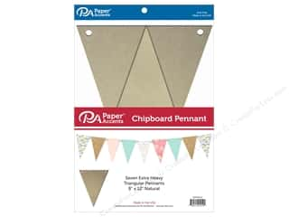 scrapbooking & paper crafts: Paper Accents Chipboard Pennants 8 x 12 in. 7 pc. Natural