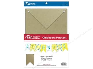 Paper Accents Chipboard Pennants 8 x 12 in. Two Point 7 pc. Natural