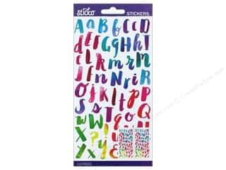 scrapbooking & paper crafts: Sticko Alphabet Stickers - Small Watercolor