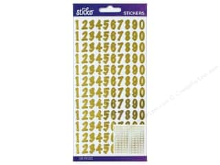 scrapbooking & paper crafts: EK Sticko Stickers Number Dot Small Gold Foil