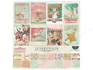 "stickers: Authentique Collection Imagine Collection Kit 12""x 12"""