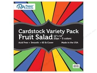Paper Accents Cardstock Variety Pack 12 x 12 in. Fruit Salad 20 pc.
