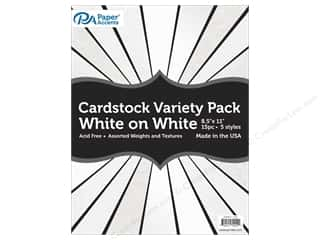 Paper Accents Cardstock Variety Pack 8 1/2 x 11 in. White on White 15 pc.