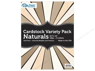 scrapbooking & paper crafts: Paper Accents Cardstock Variety Pack 8 1/2 x 11 in. Naturals 15 pc.