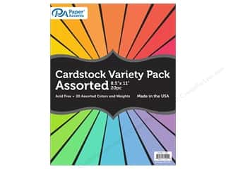 scrapbooking & paper crafts: Paper Accents Cardstock Variety Pack 8 1/2 x 11 in. Assorted 20 pc.