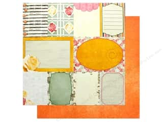"scrapbooking & paper crafts: Bo Bunny Collection Aryia's Garden Paper 12""x 12"" Notes (25 pieces)"