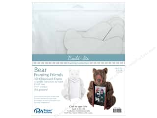 "craft & hobbies: Paper Accents Build Its Framing Friends 8""x 10"" Bear White"