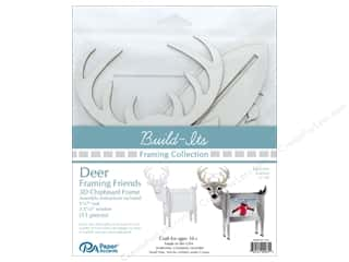 "craft & hobbies: Paper Accents Build Its Framing Friends 5""x 7"" Deer White"