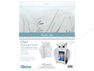 "craft & hobbies: Paper Accents Build Its Framing Friends 8""x 10"" Owl White"