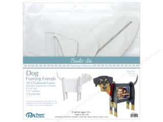 "projects & kits: Paper Accents Build Its Framing Friends 8""x 10"" Dog White"