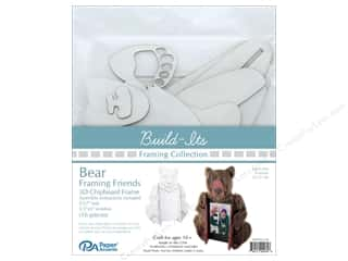 "craft & hobbies: Paper Accents Build Its Framing Friends 5""x 7"" Bear White"