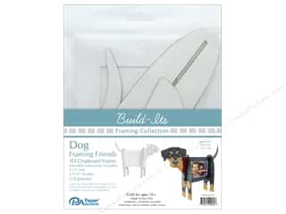 "craft & hobbies: Paper Accents Build Its Framing Friends 5""x 7"" Dog White"