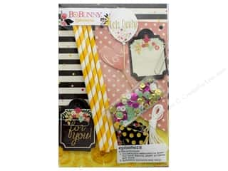 paper straw: Bo Bunny Collection Petal Lane Ephemera