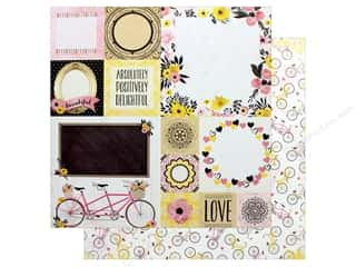 "Bo Bunny Collection Petal Lane Paper 12""x 12"" Sunshine"