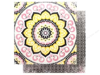 "Cardstock: Bo Bunny Collection Petal Lane Paper 12""x 12"" Mandalas (25 pieces)"