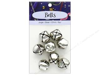 PA Essentials Jingle Bells 7/8 in. 8 pc. Silver