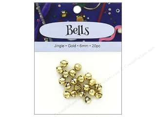 craft & hobbies: PA Essentials Jingle Bells 1/4 in. 20 pc. Gold