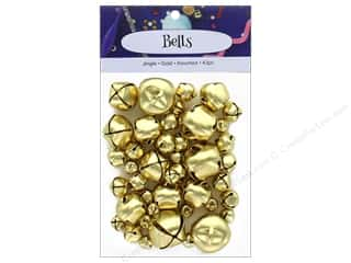craft & hobbies: PA Essentials Jingle Bells Assorted Sizes 43 pc. Gold