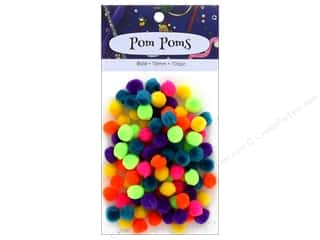 multi colored centers wiggle eyes: PA Essentials Pom Poms 3/8 in. Bold 100 pc.