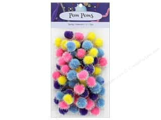 PA Essentials Pom Poms 1/2 in. Iridescent Spring 72 pc.