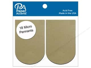 Paper Accents Chipboard Pennants 1 1/4 x 2 in. Micro Arched 18 pc. Natural