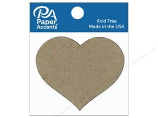 Paper Accents Chipboard Shape Small Heart 8 pc. Natural