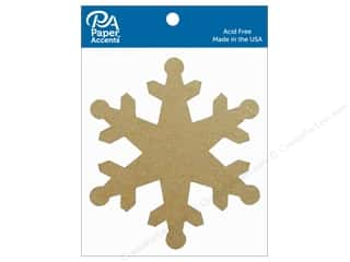 die cuts: Paper Accents Chipboard Shape Snowflake 8 pc. Natural