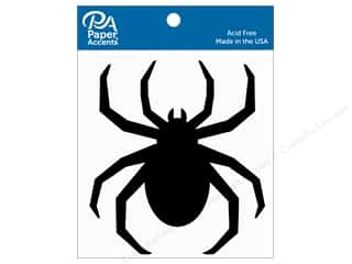 scrapbooking & paper crafts: Paper Accents Chipboard Shape Spider 8 pc. Black