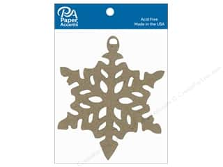 scrapbooking & paper crafts: Paper Accents Chipboard Shape Ornament Snowflake 6 pc. Natural