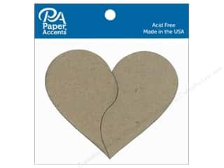 scrapbooking & paper crafts: Paper Accents Chipboard Shape Pieces Of My Heart 6 pc. Natural