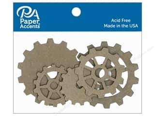 Paper Accents Chipboard Shape Sprockets 5 pc. Natural