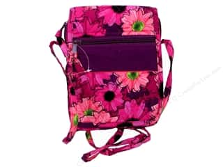 craft & hobbies: Darice Quilted Small Crossbody Hipster Bag - Pink Floral
