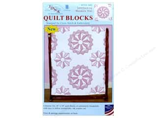 yarn & needlework: Jack Dempsey Quilt Block 18 in. White Interlocking Mandala Star 6 pc