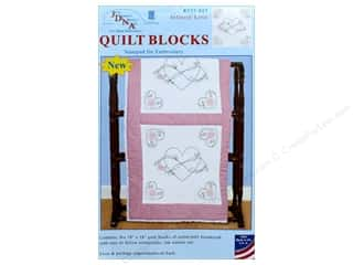 yarn & needlework: Jack Dempsey Quilt Block 18 in. White Infinity Love 6 pc