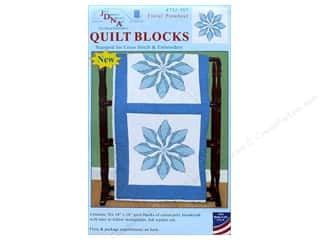 yarn & needlework: Jack Dempsey Quilt Block 18 in. White Floral Pinwheel 6 pc