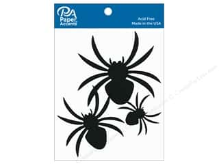 scrapbooking & paper crafts: Paper Accents Chipboard Shape Spiders 10 pc. Black